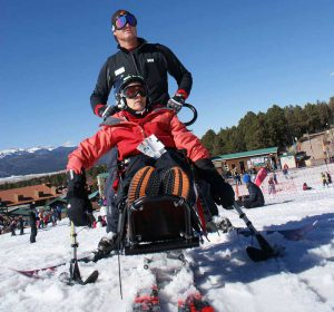 Buddy Hayes & one of Angel Fire's amazing adaptive instructors at 2016's Military Winterfest.